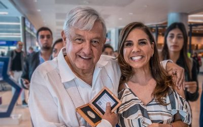 Alcaldesa de Cancún gasta miles de dólares en vuelo privado para ver a AMLO